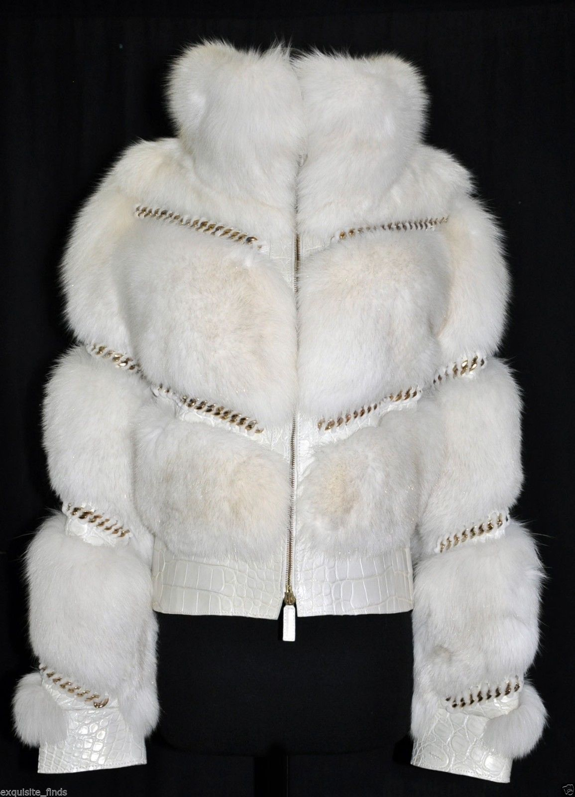 Gucci Pearl Fox Fur and Crocodile Jacket 2