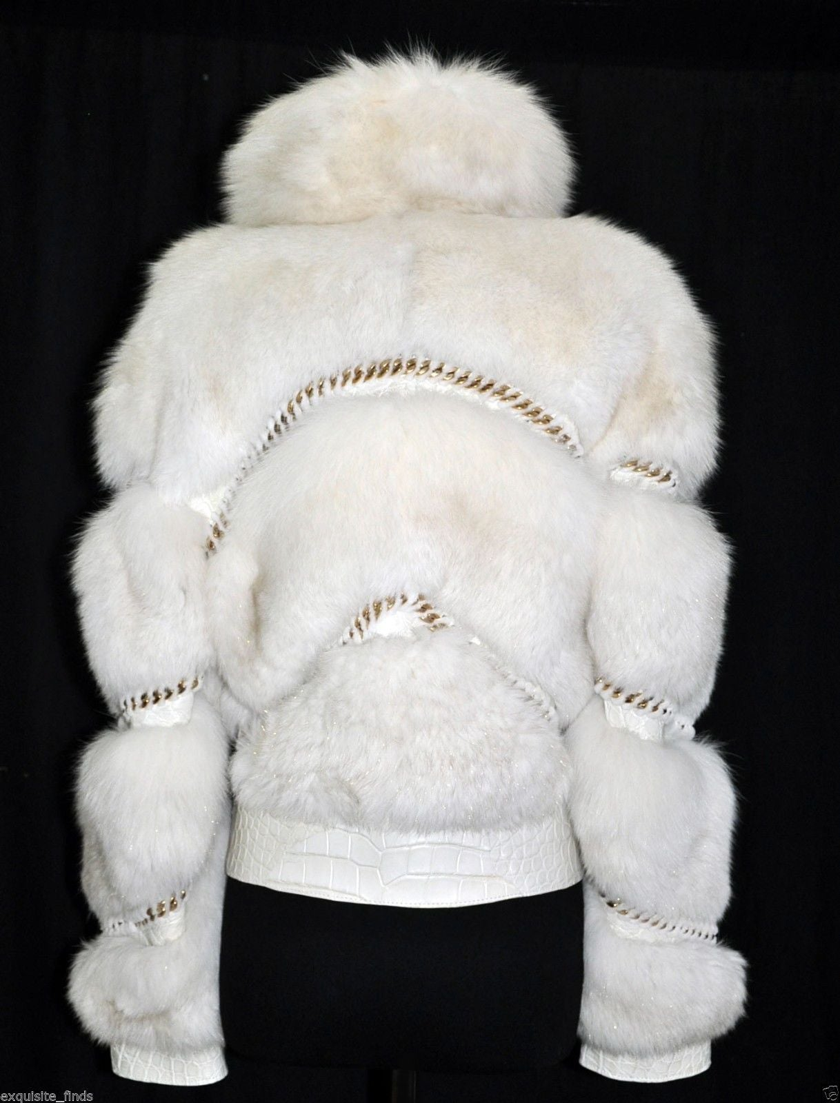 Women's Gucci Pearl Fox Fur and Crocodile Jacket For Sale