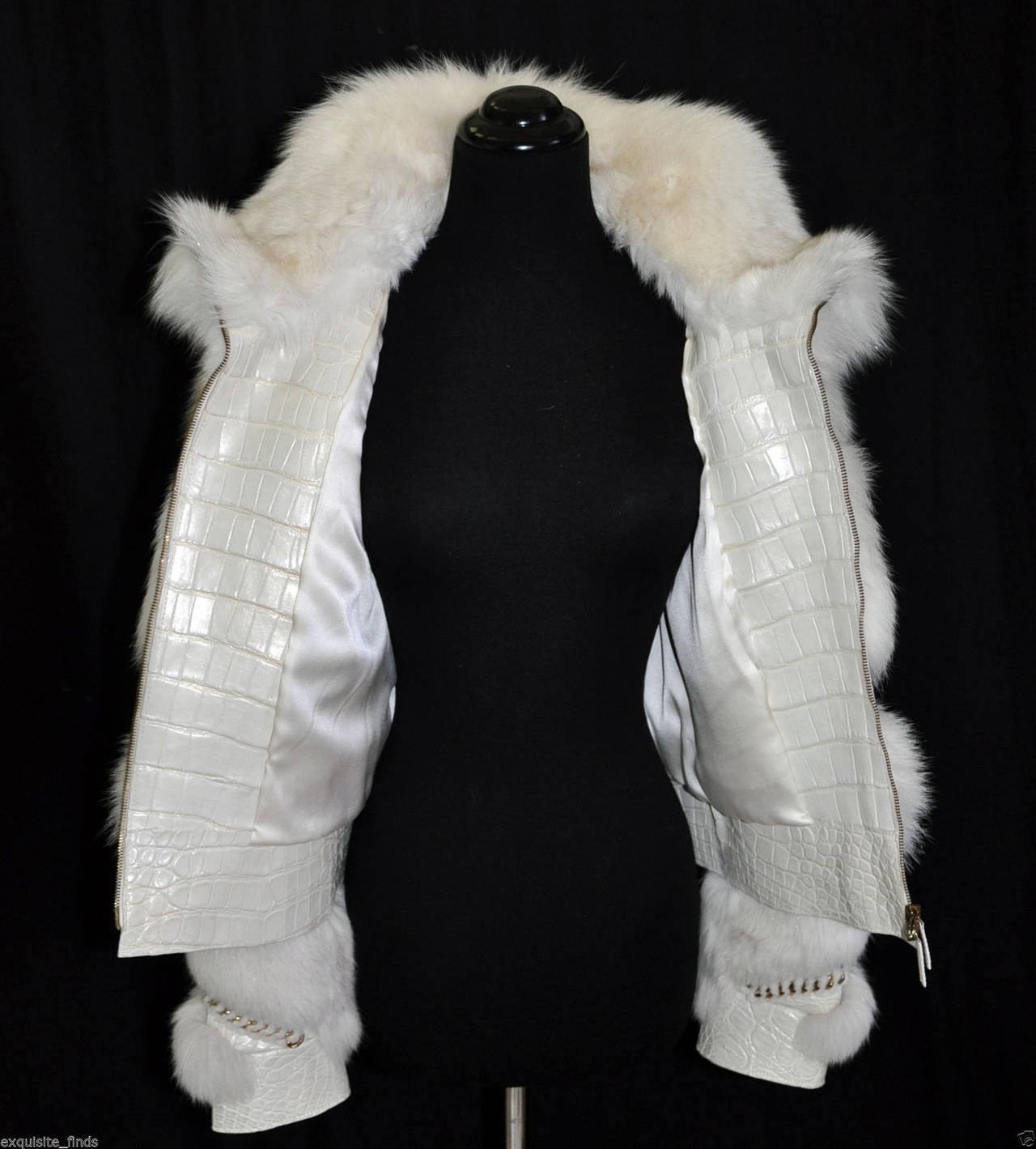 Gucci Pearl Fox Fur and Crocodile Jacket 5