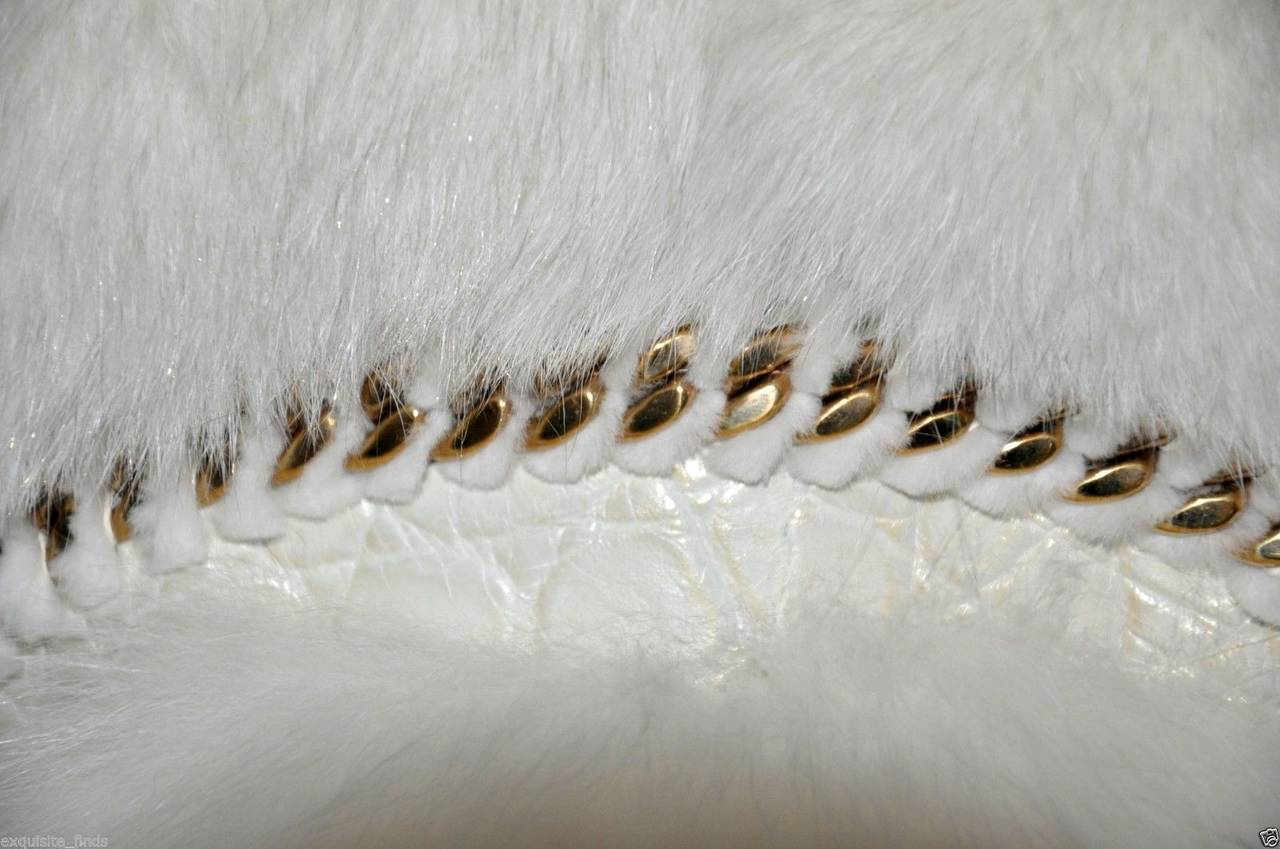 Gucci Pearl Fox Fur and Crocodile Jacket 7