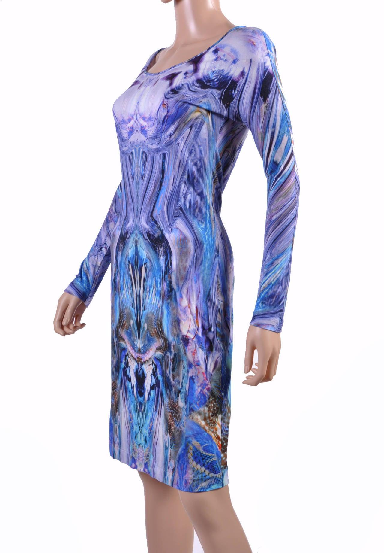 ICONIC ALEXANDER MсQUEEN  DRESS  2010 Plato Atlantis Collection  94% Viscose, 6% Elastane  IT Size 38       Excellent condition