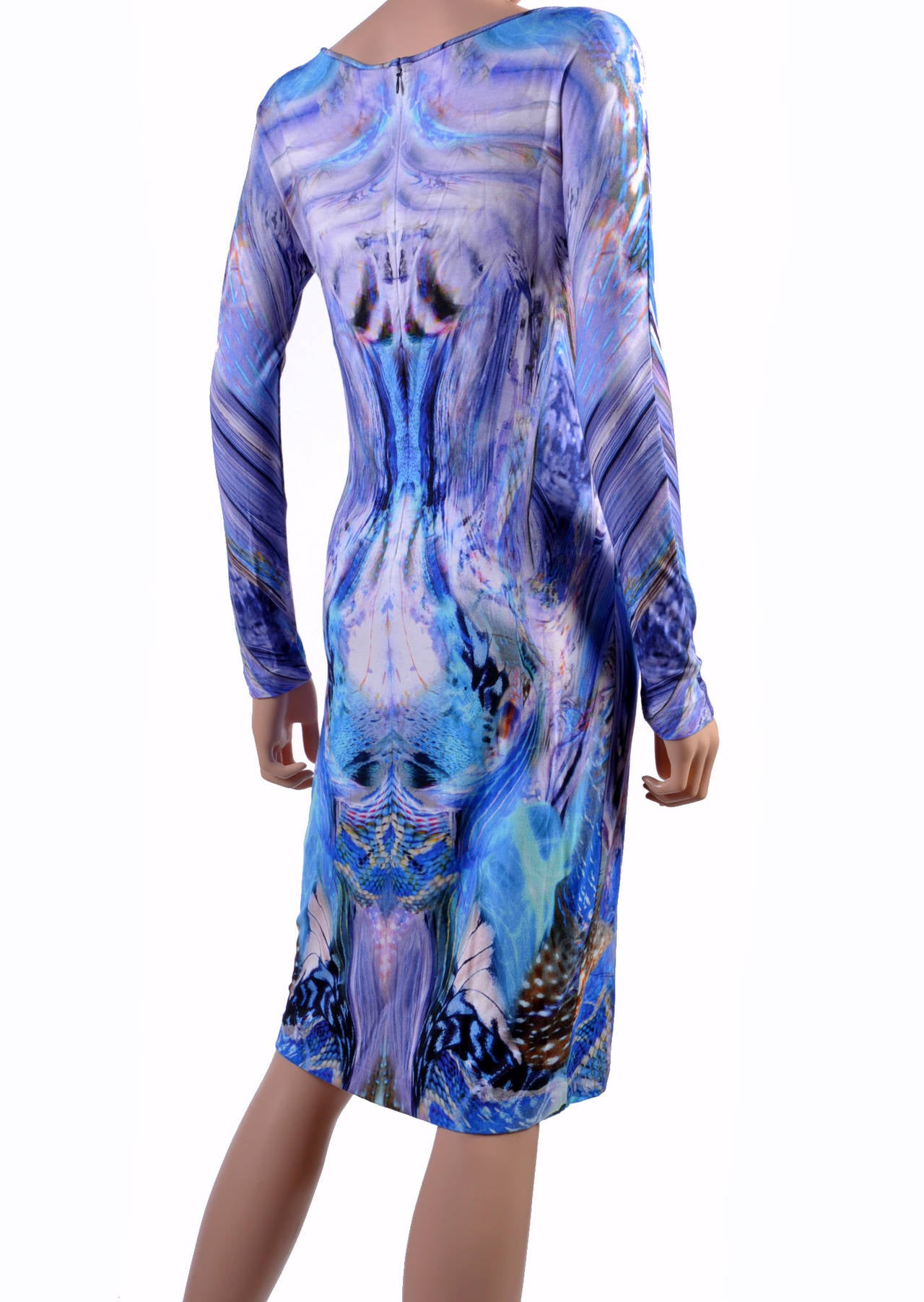 Purple Alexander Mcqueen 2010 Plato Atlantis Dress For Sale