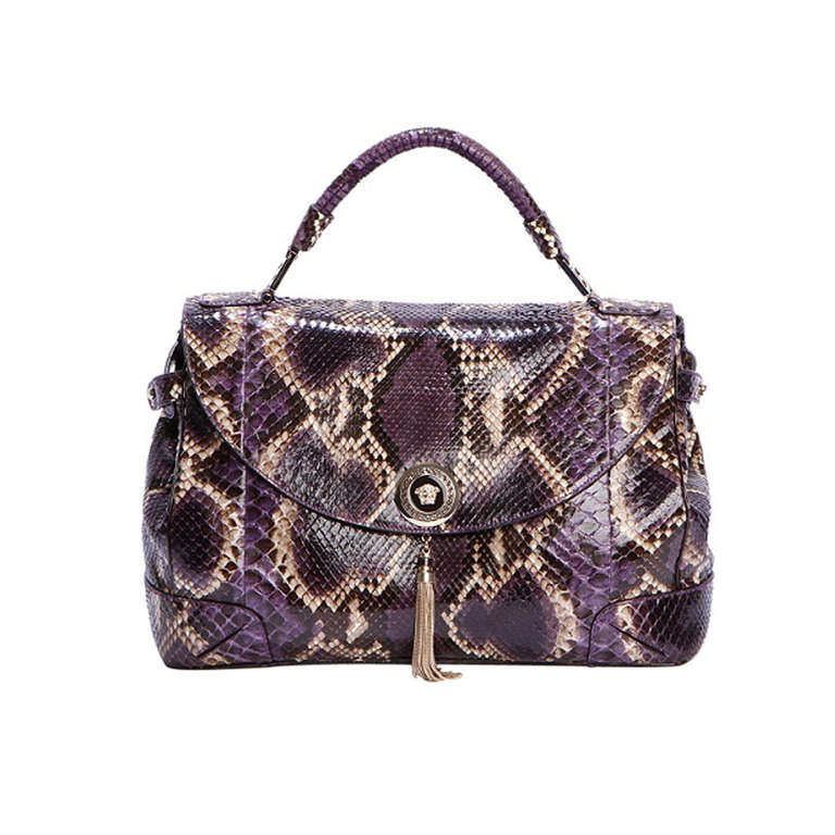 New Versace Python Vanitas Altea Handbag For