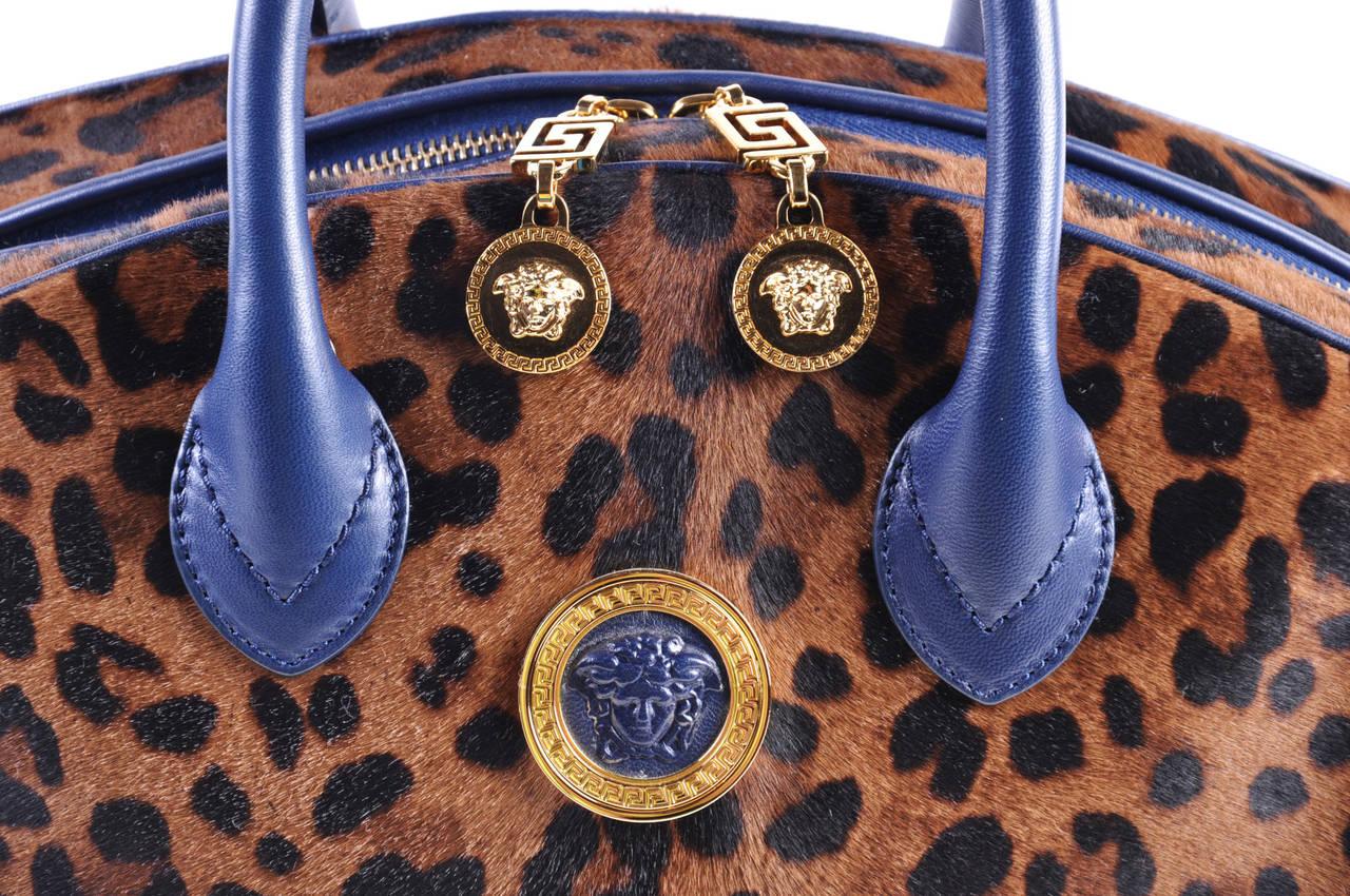 New Versace Animal Print Bag At 1stdibs