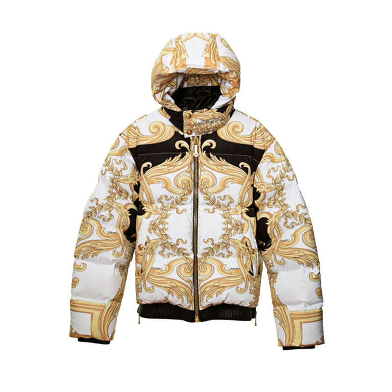 f9b4d70bab283 New VERSACE BAROQUE PRINTED DOWN JACKET at 1stdibs