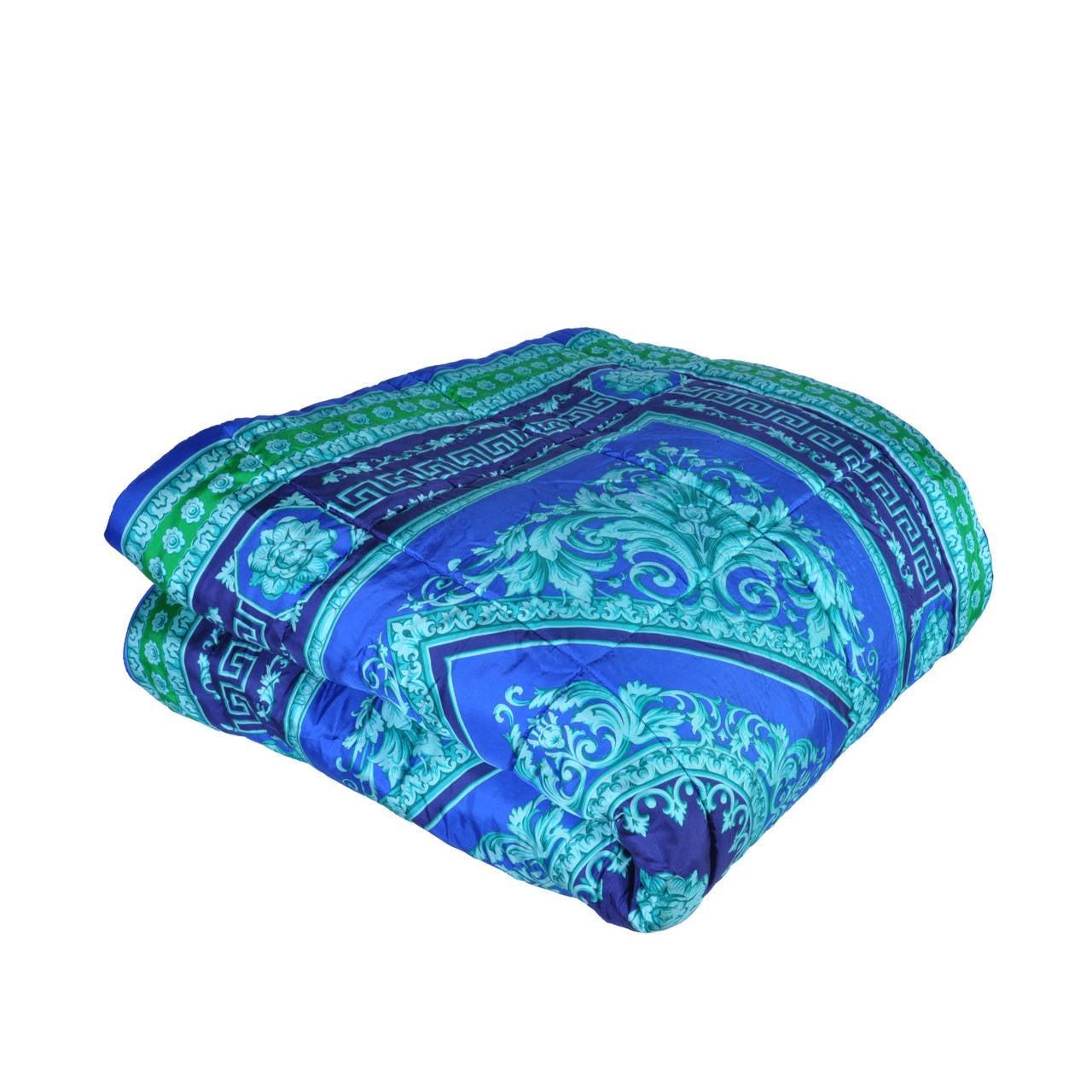 New Versace Silk Comforter At 1stdibs
