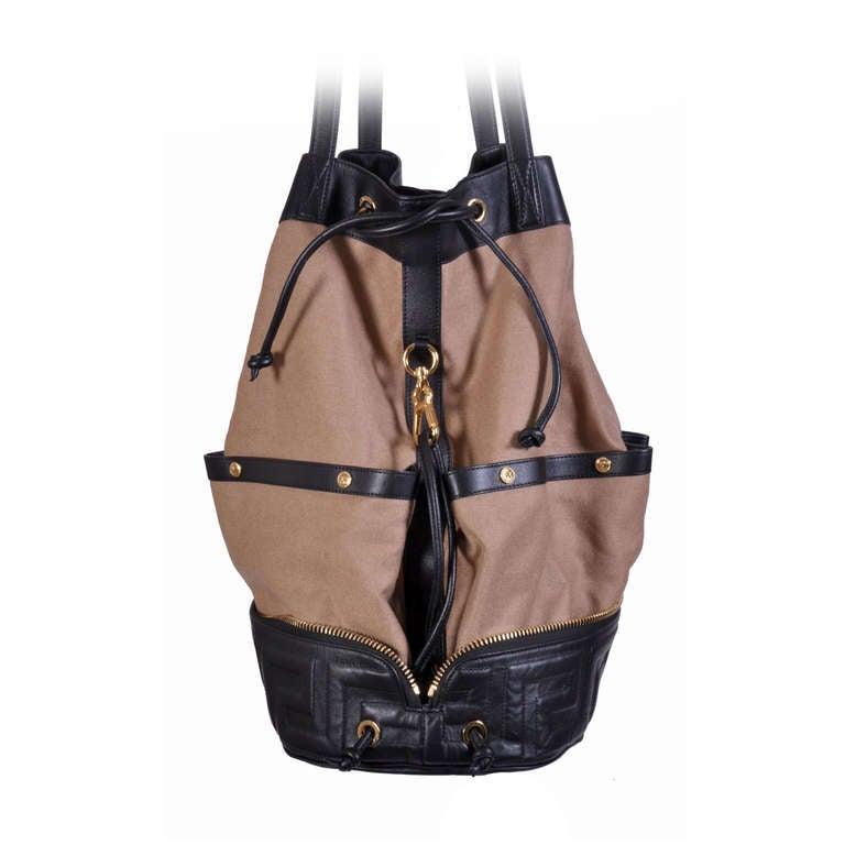 Versace New Men's Foldable Travel Handbag