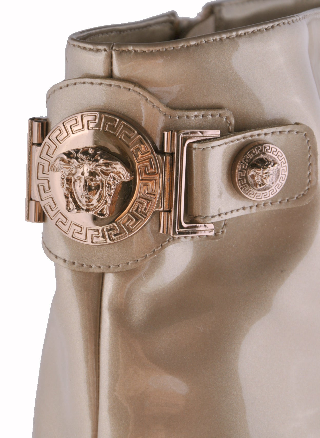 New VERSACE ROSE GOLD TRIPLE PLATFORM BOOTS  4