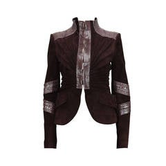 F/W 2004 TOM FORD for GUCCI PYTHON SUEDE LEATHER JACKET
