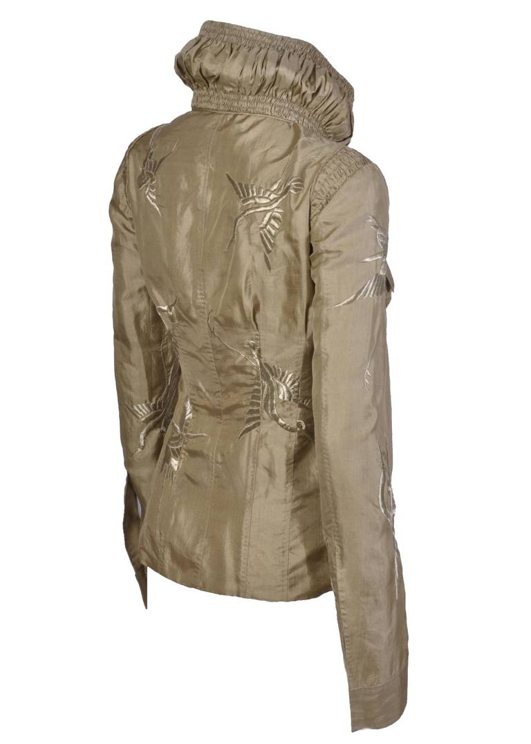 S/S 2003 Tom Ford for Gucci Embroidered Jacket In Excellent Condition For Sale In Montgomery, TX