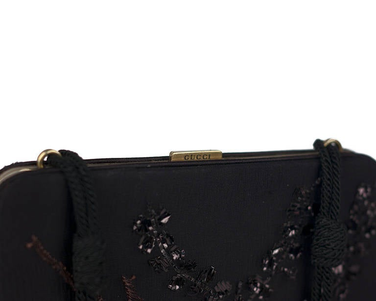 Women's S/S 2003 Tom Ford for Gucci embroidered clutch For Sale