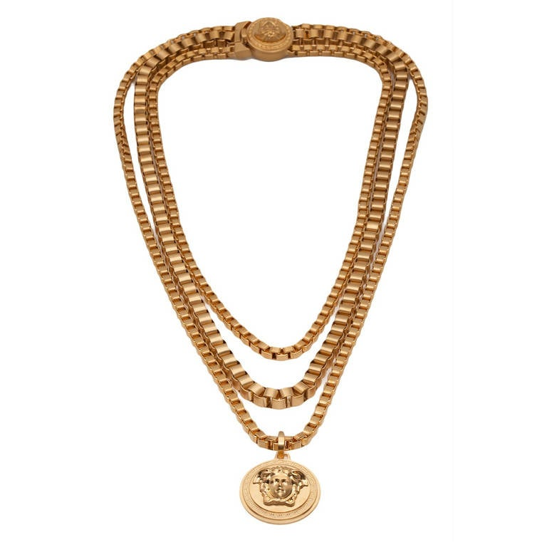 versace chain medusa necklace for sale at 1stdibs