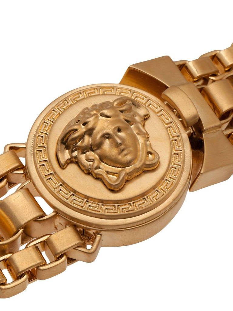 Versace Triple Chain Medusa Necklace At 1stdibs