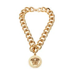 VERSACE 24K Gold plated chain necklace for men