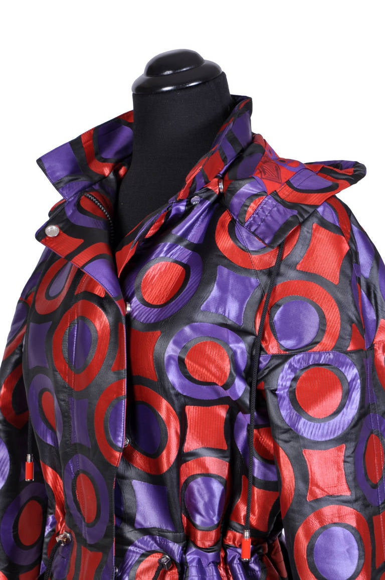 New VERSACE Textured Jacquard Trench Coat with Hood 5
