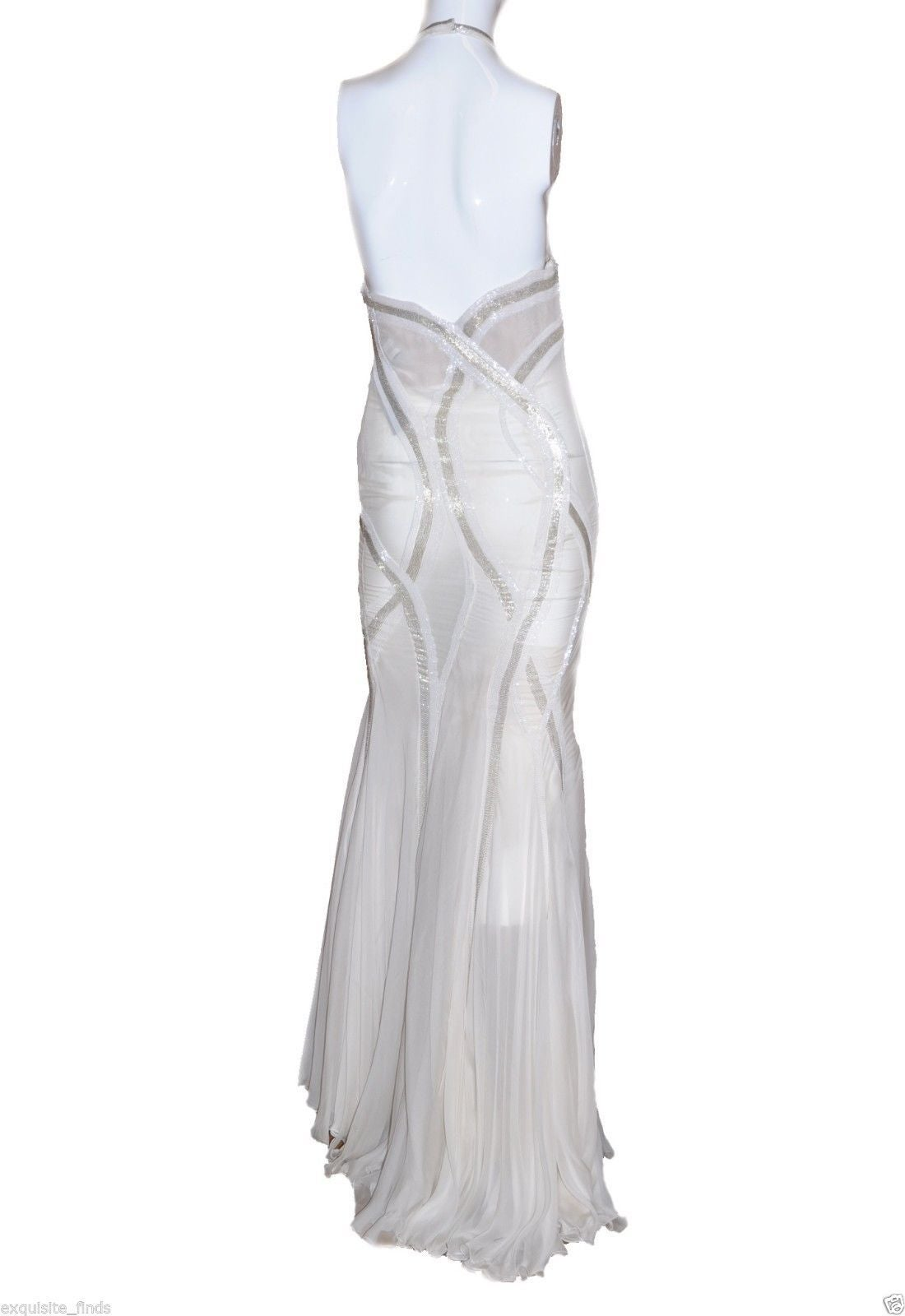 New VERSACE EMBELLISHED MERMAID CHIFFON GOWN 3