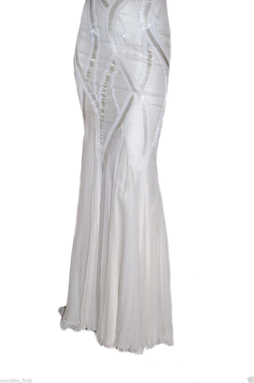 New VERSACE EMBELLISHED MERMAID CHIFFON GOWN 4