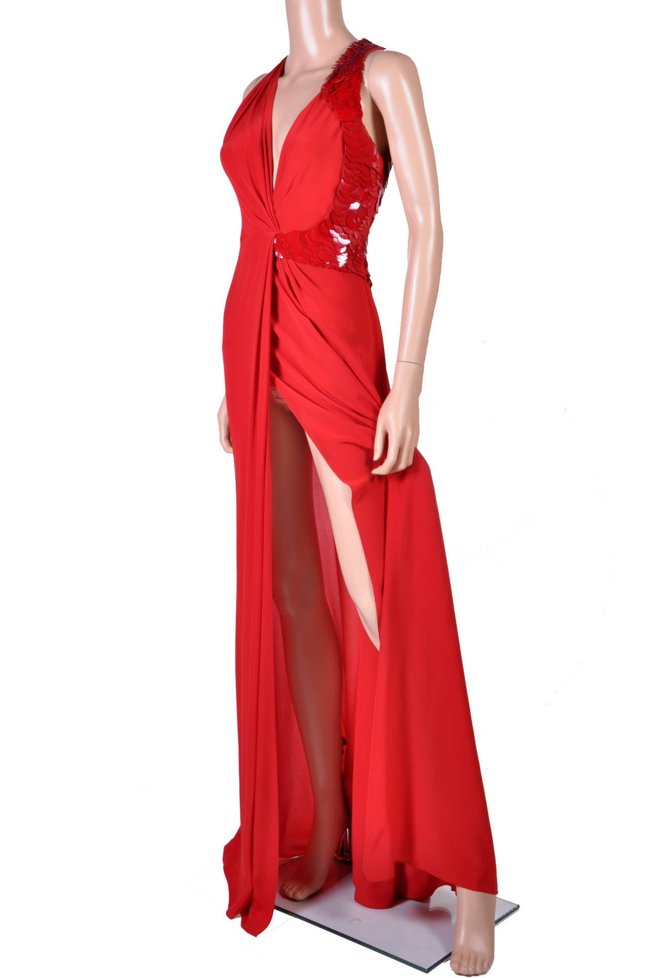 VERSACE Embellished Red Silk Gown on Emmy's list of the most iconic! 3