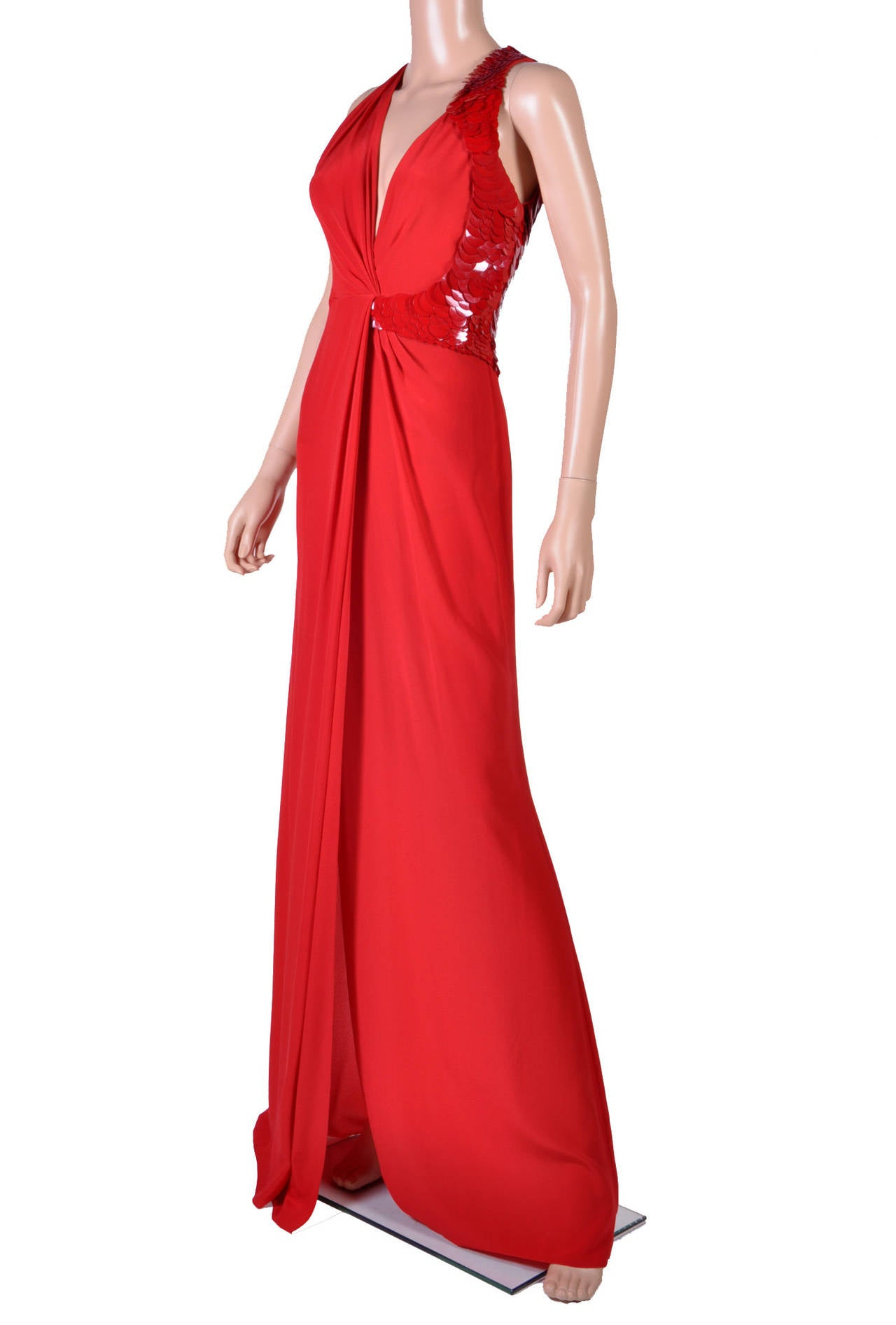 VERSACE Embellished Red Silk Gown on Emmy's list of the most iconic! 5