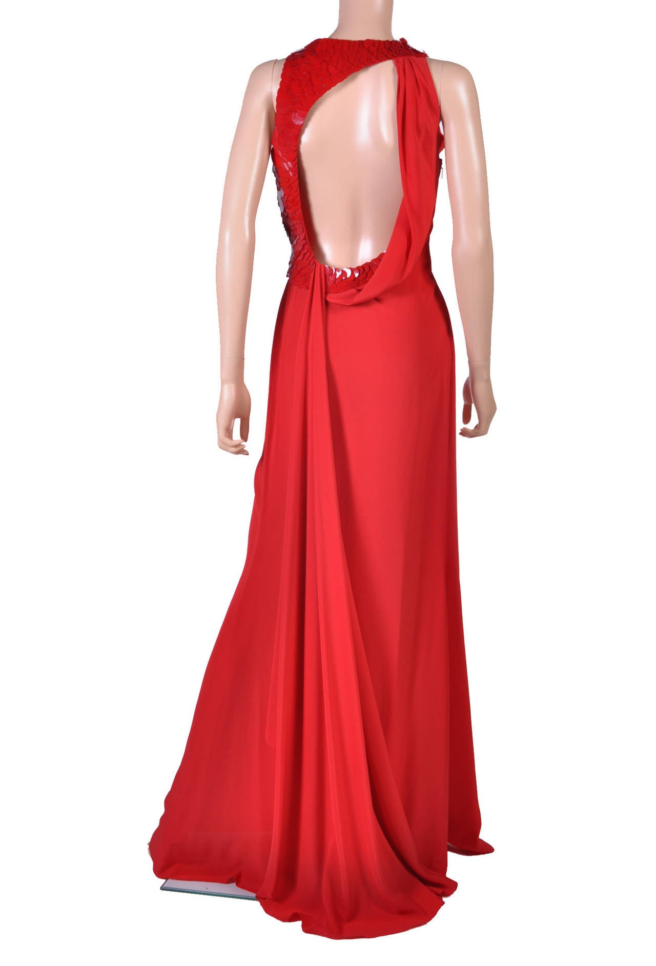 VERSACE Embellished Red Silk Gown on Emmy's list of the most iconic! 6