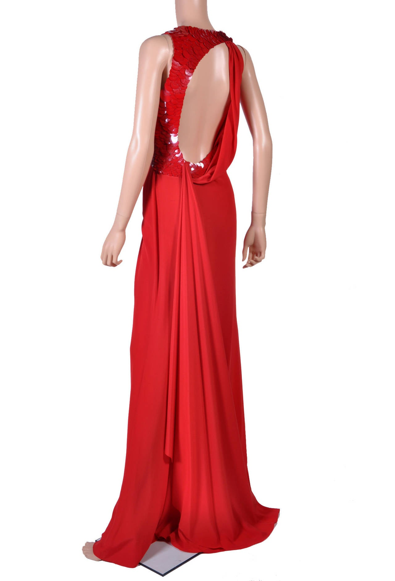 VERSACE Embellished Red Silk Gown on Emmy's list of the most iconic! 7