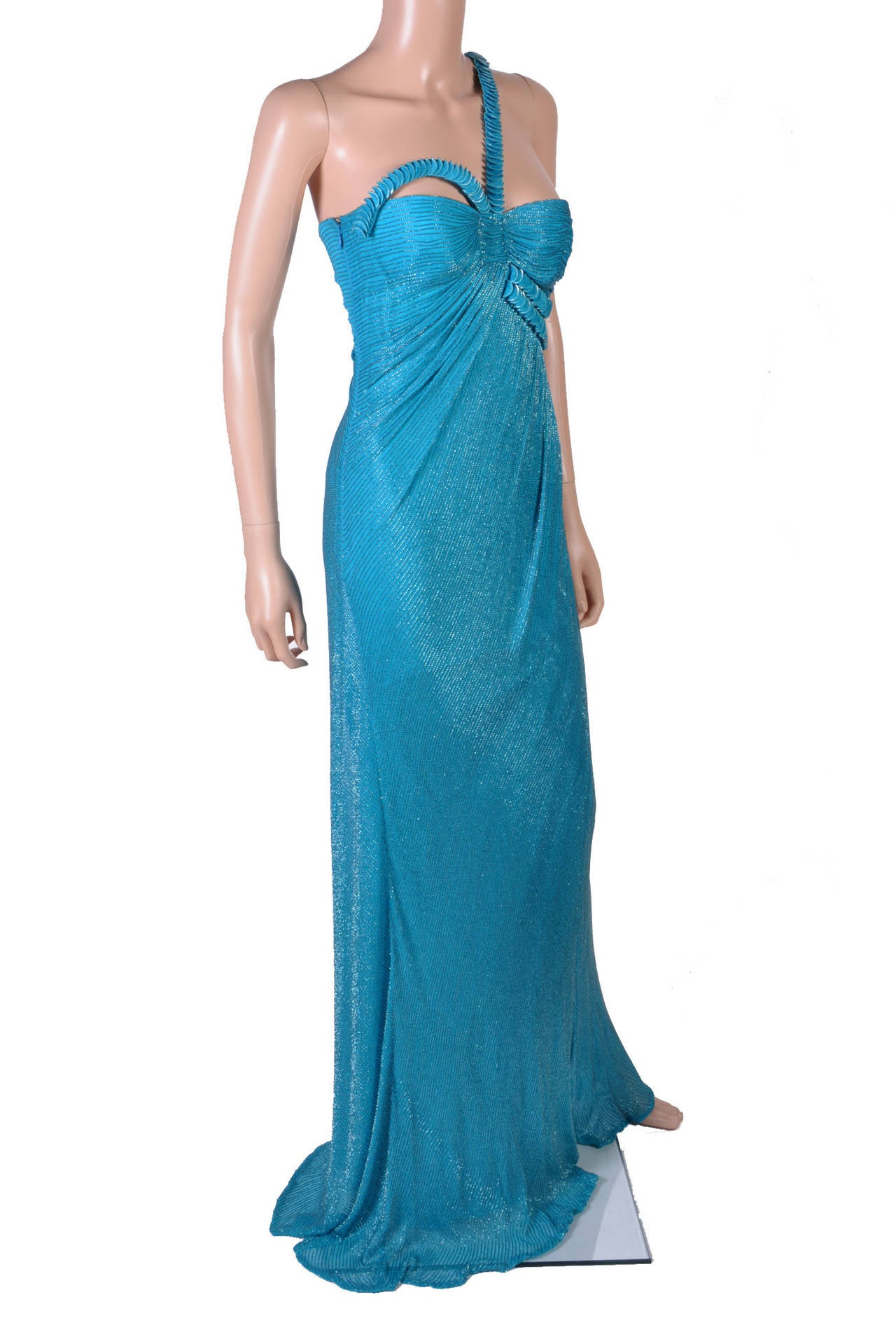 New versace fully embroidered long dress for sale at stdibs