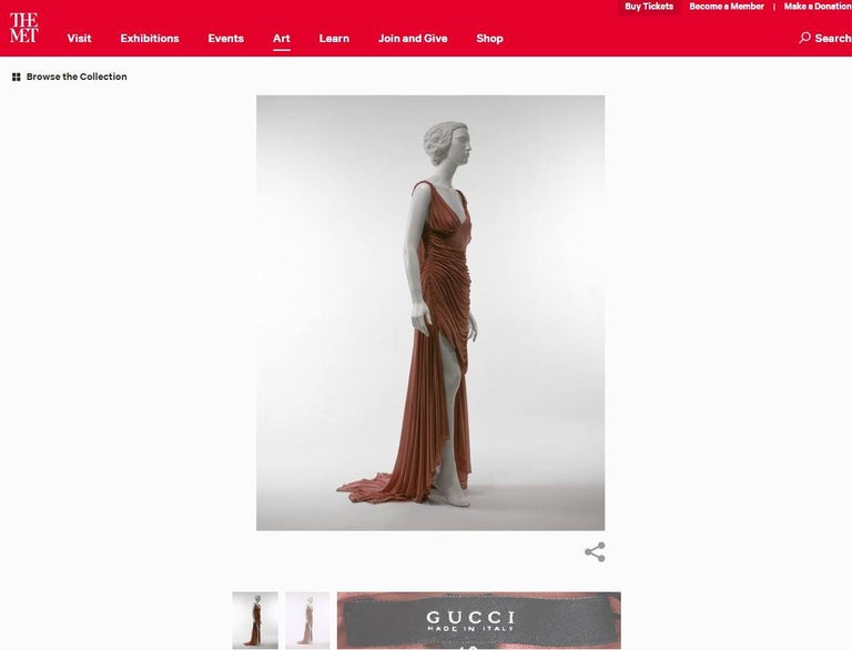 Tom Ford For Gucci Greek Goddess Silk Gown, 2003  For Sale 1
