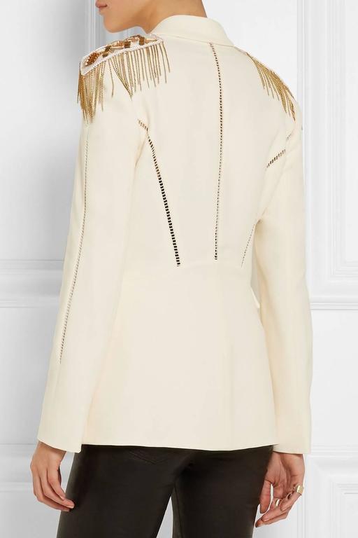 Versace Embellished silk-crepe blazer 3
