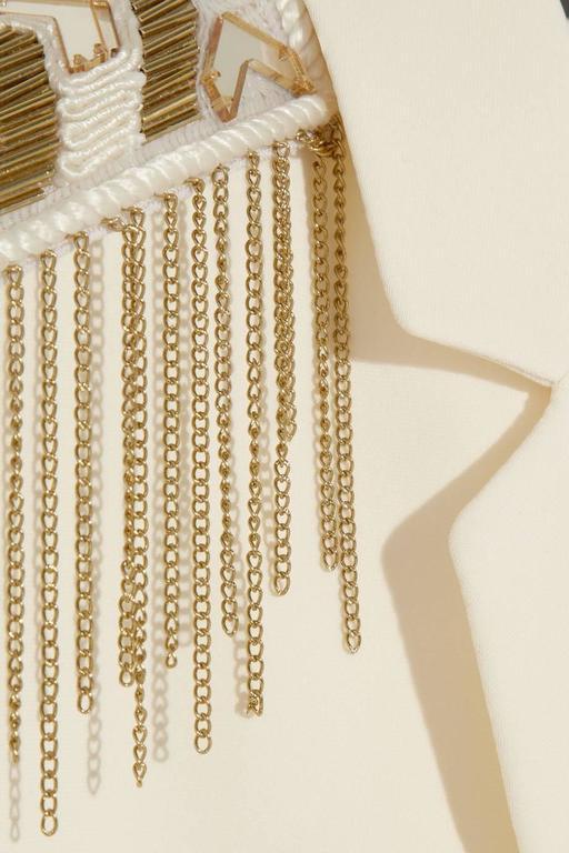 Versace Embellished silk-crepe blazer 4
