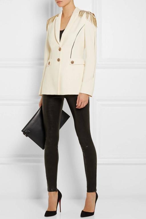 Versace Embellished silk-crepe blazer 2