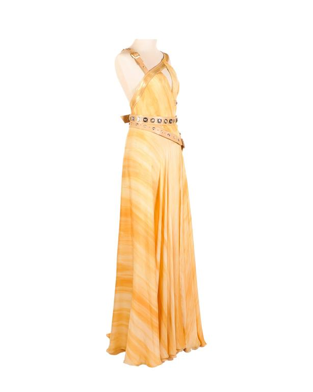 Versace embellished silk gown 3
