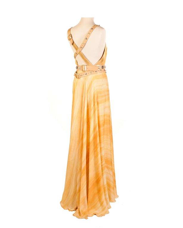 Versace embellished silk gown 4