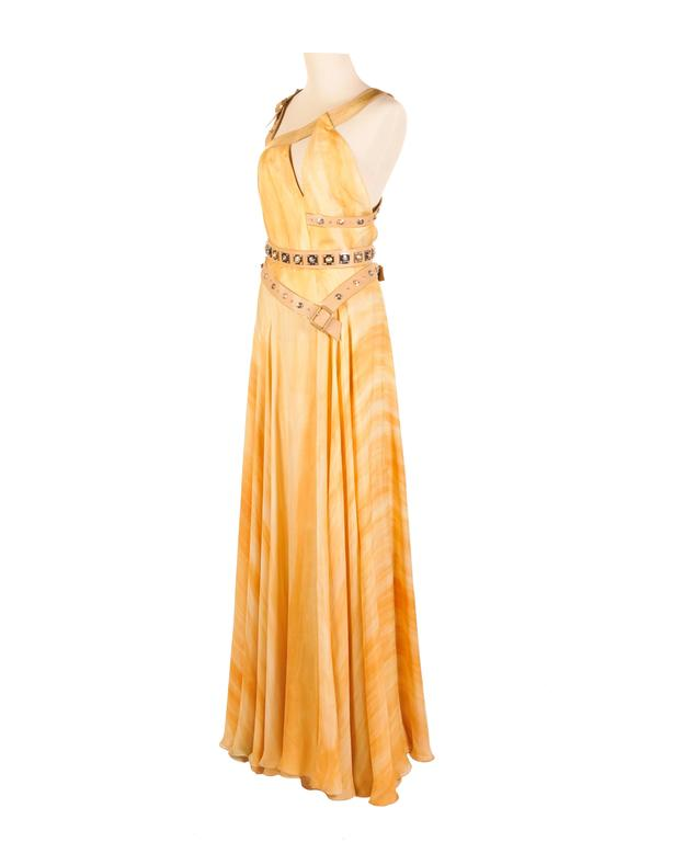Versace embellished silk gown 6