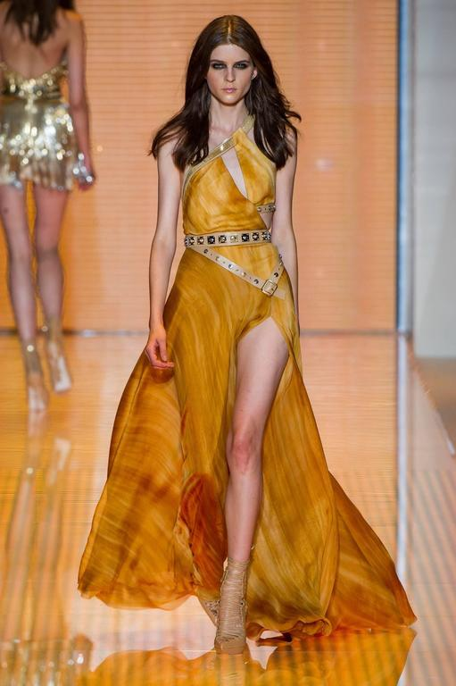 Versace embellished silk gown 2