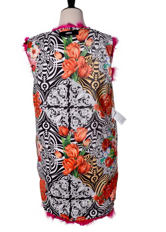 Versace Versus Fox Sleeveless Coat Vest 5