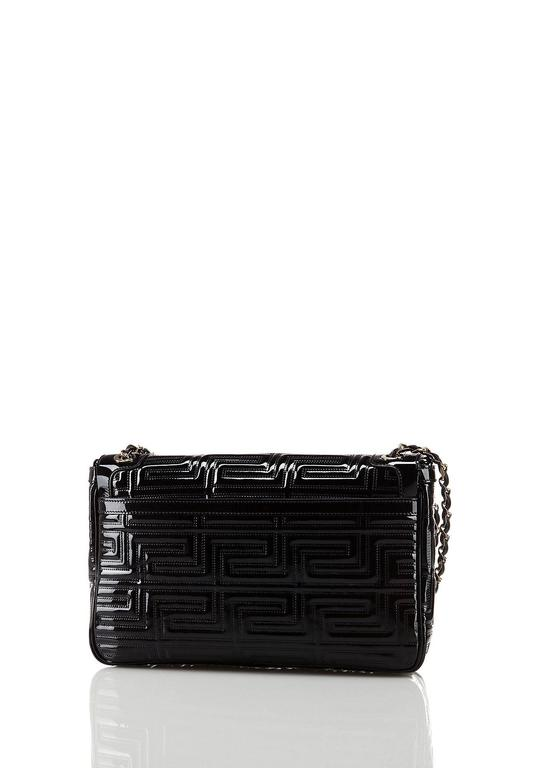 f98ab2184007 Versace Black Quilted Patent Leather Shoulder Bag. HomeFashionHandbags and  PursesShoulder Bags. null. null