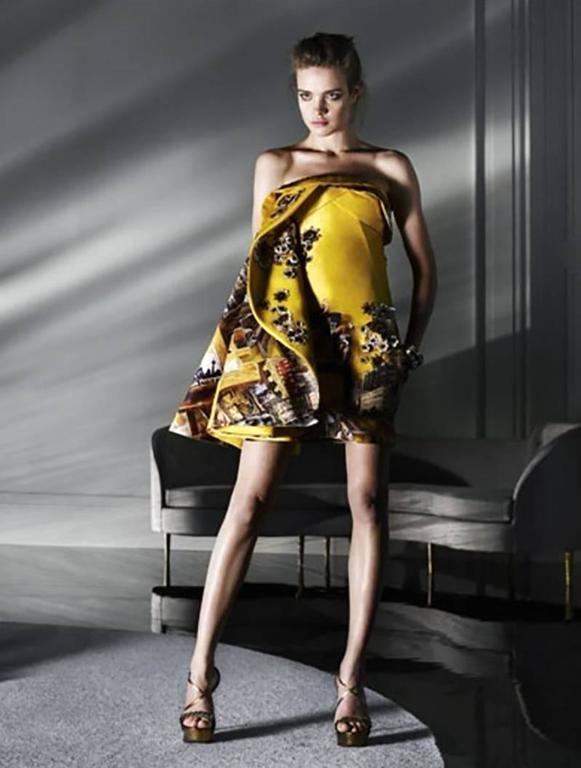 Versace Tim Roeloffs art print Dress 7
