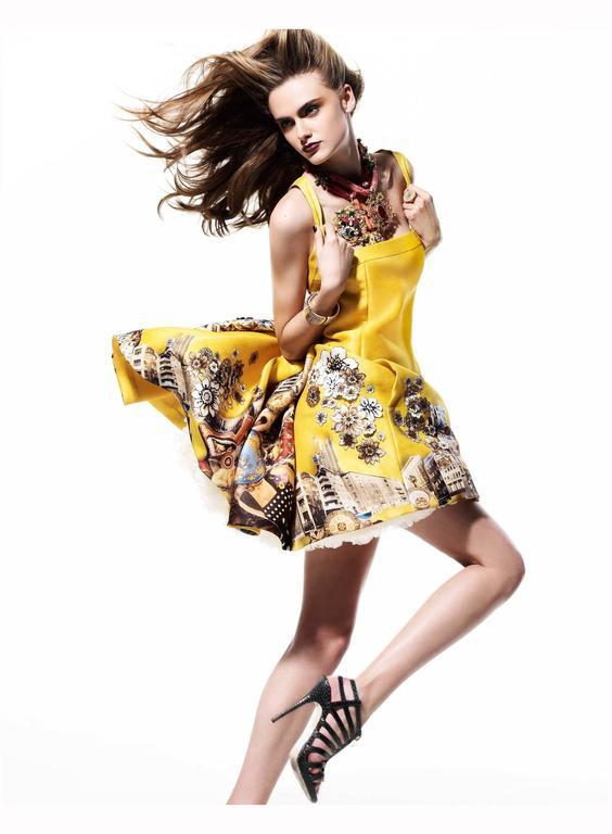 Versace Tim Roeloffs art print Dress 8