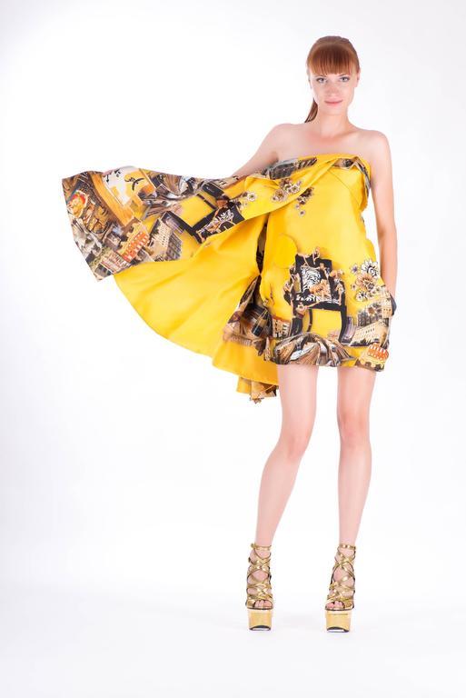 Versace Tim Roeloffs art print Dress 4