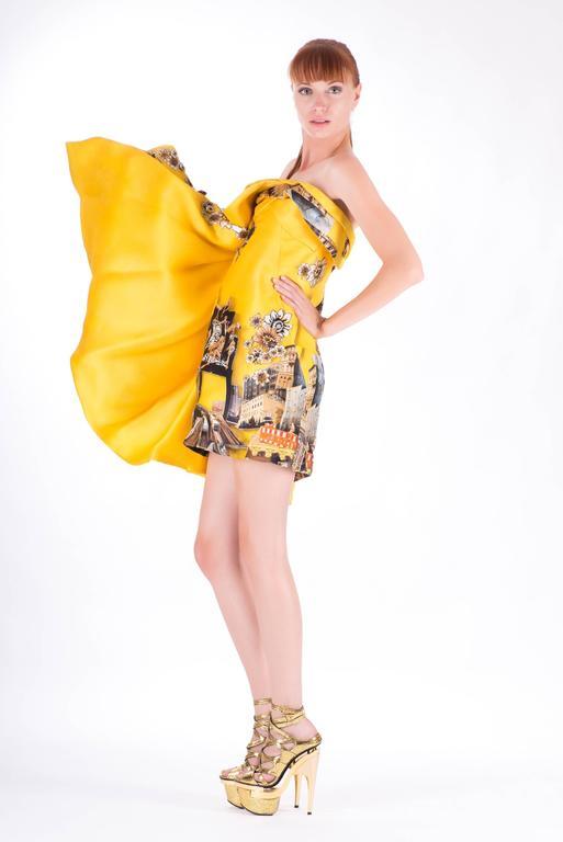 Versace Tim Roeloffs art print Dress 6