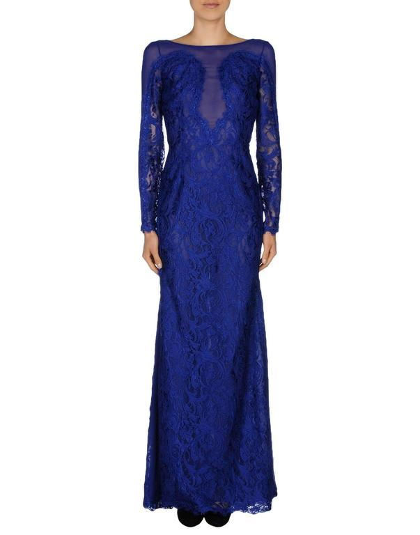 New Emilio Pucci Lace Cheer Blue Dress Gown It.40 3