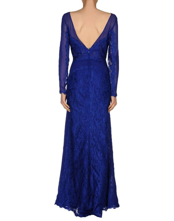 New Emilio Pucci Lace Cheer Blue Dress Gown It.40 4