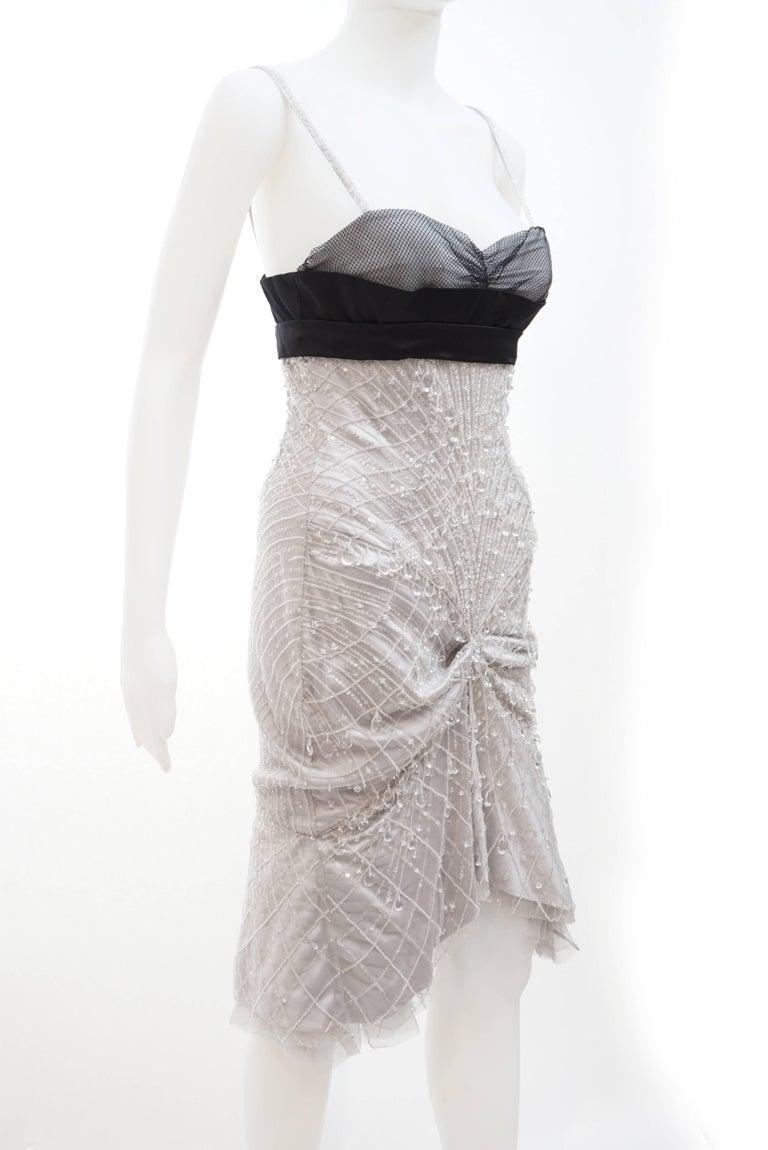 Gray Gucci Crystal embellished dress For Sale