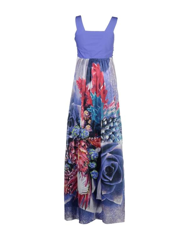 ROBERTO CAVALLI   Embellished long dress  The amazing dress is crafted from 100% cotton and beautifully embellished.  Gorgeous floral print  Fully lined  IT Size 42 -  US 6  Total length is about 64 inches   Brand new, with tags.