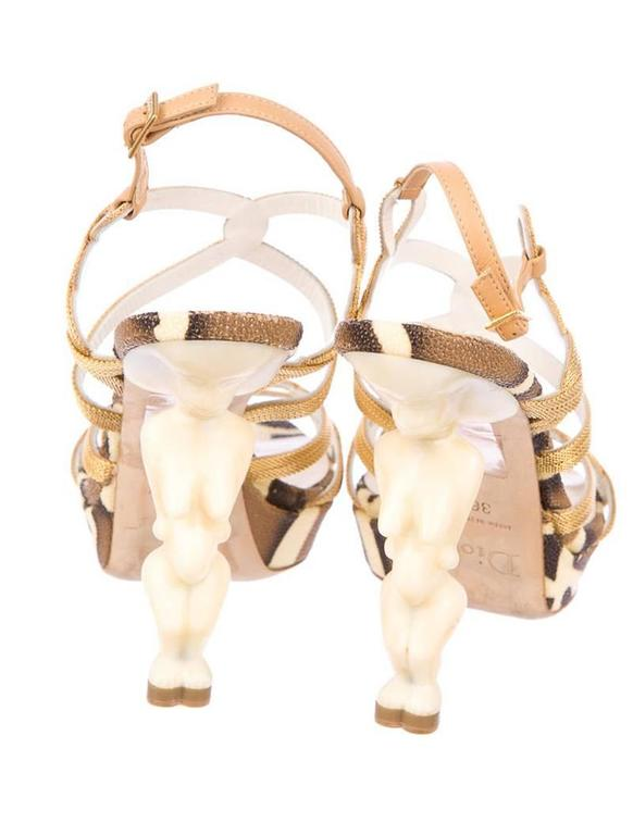 Beige Iconic Christian Dior Fertility Goddess heels For Sale
