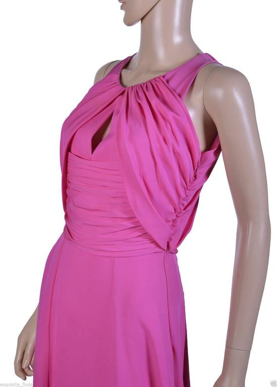 Women's VERSACE Pink Matte Chiffon Gown For Sale