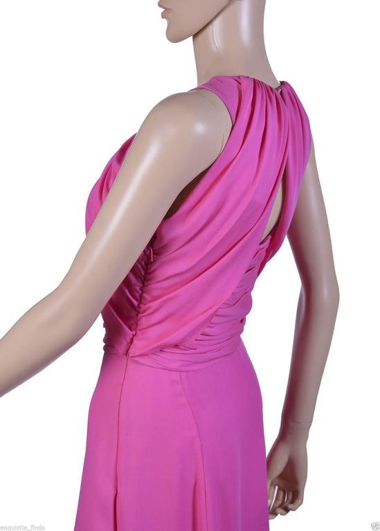 VERSACE Pink Matte Chiffon Gown For Sale 1