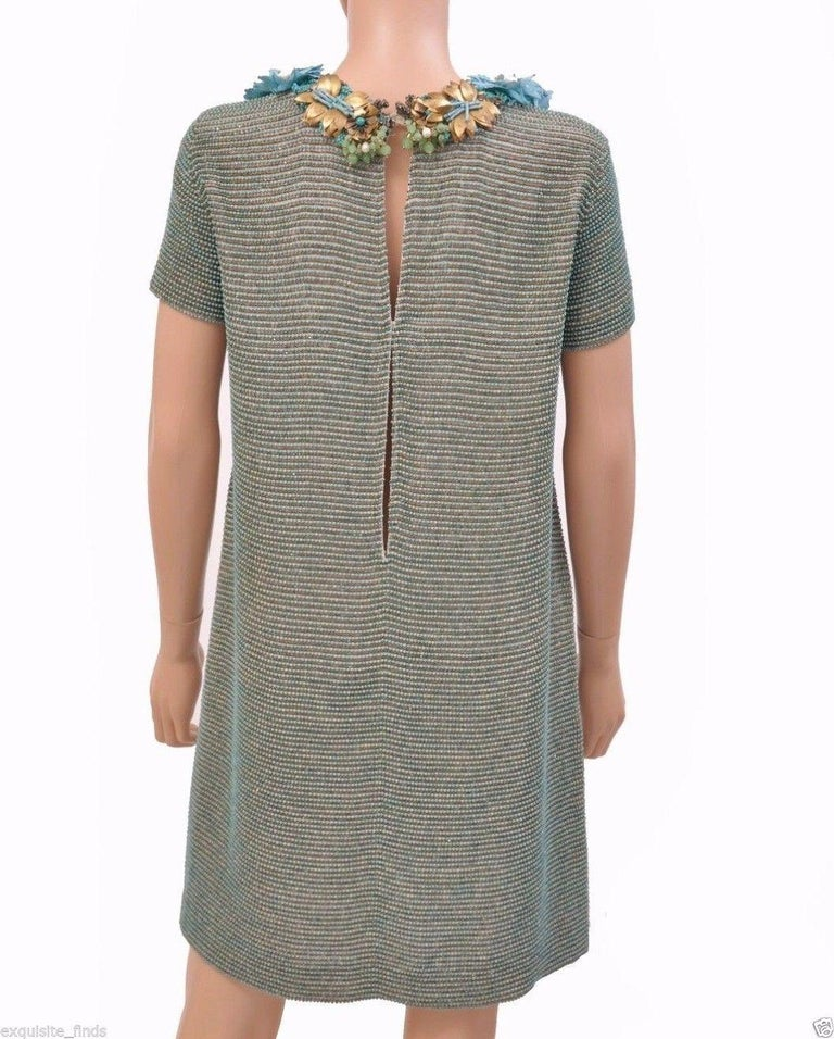 Women's New GUCCI BEADED DRESS WITH FLORAL EMBROIDERY For Sale