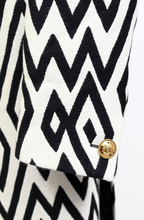Versace Men's Printed Coat with Mink Fur 5