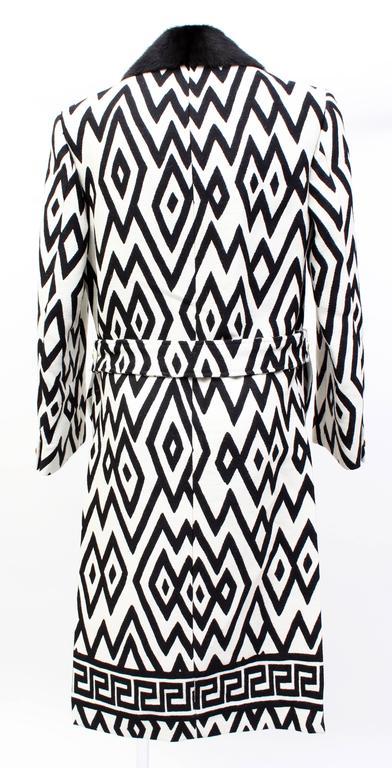 Versace Men's Printed Coat with Mink Fur 6